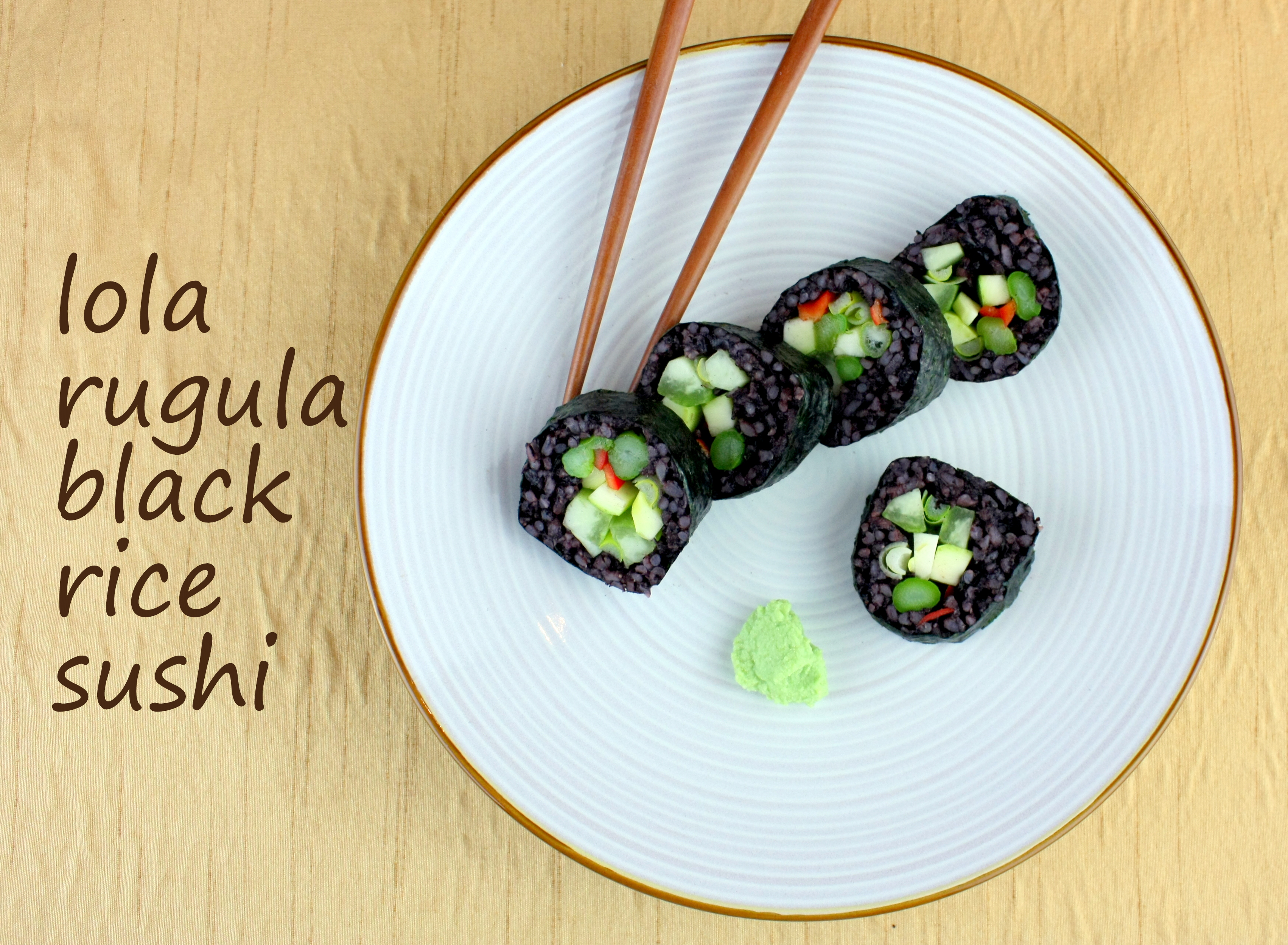 how to make black rice sticky for sushi